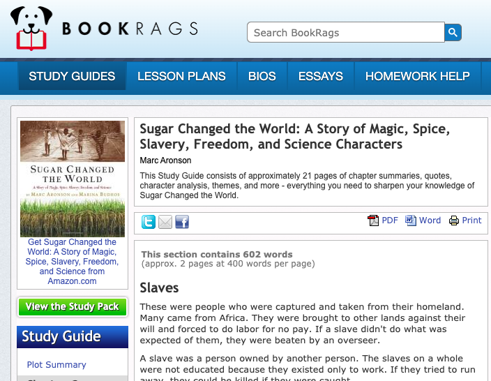 Sugar Changed the World: A Story of Magic, Spice, Slavery, Freedom, and Science Characters